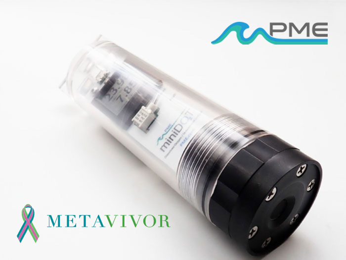 The miniDOT Clear logger is a submersible water logger for measuring dissolved oxygen with LCD Screen. (Credit: Precision Measurement Engineering)
